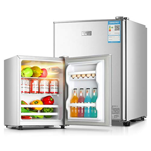 Unbekannt Kühlschrank Kühlschrank Eintüriger Kühlschrank 60/68 / 88L 0.34kw • h / 24h Energiesparend Kühlung 40dB Geräuschpegel Haushalt Silber
