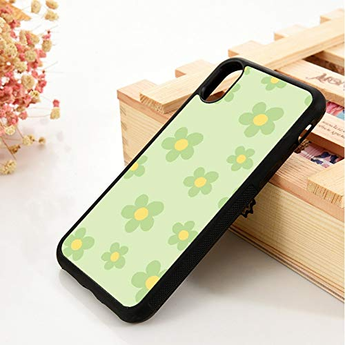 WGOUT para iPhone 5 5S 6 6S Funda de Gel de sílice   para iPhone 7 Plus X XS 11 12 Mini Pro MAX XR Sage Hijau Bunga, para iPhone 8