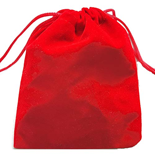 TBYHR Red Velvet Cloth Bunched Bag/Drawstring Bags/Jewelry Pouches/Multifunction Protection Cover for Cellphone MP3 MP4 Electronic Digital Equipment Storage