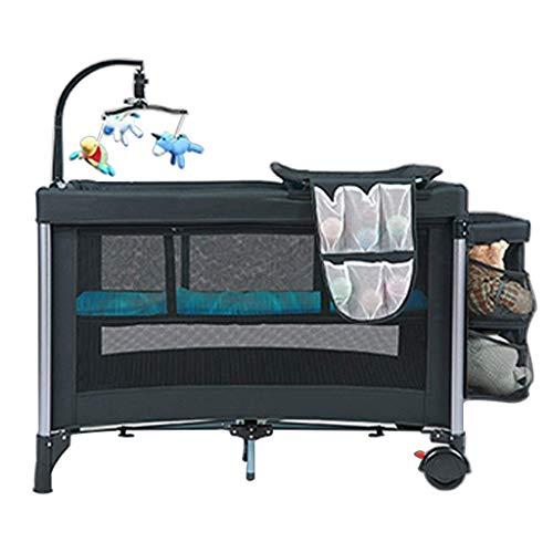 Living Equipment Schaukelstuhl Neugeborenes Babybett Klappbare Schaukelwiege Tragbarer Baby-Spielplatz mit abnehmbarem Stubenwagen und Tisch Geeignet für Neugeborene, um das Bett zu tolerieren (Far