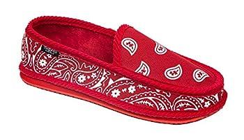 Troooper America KS-002 Bandanna Paisley Slip-On House Shoe Slippers  7 RED/WHITE