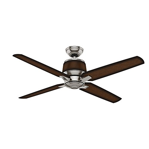 Casablanca Indoor / Outdoor Ceiling Fan, with wall control - Aris 54 inch, Brushed Nickel, 59123
