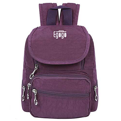 EGOGO Womens Girls Kids Backpack Mini Waterproof Nylon Daypack School Bag E530-2 (Purple)