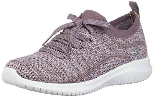 Skechers Ultra Flex, Zapatillas sin Cordones Mujer, Morado (LAV Black Knit Mesh/Trim), 39 EU