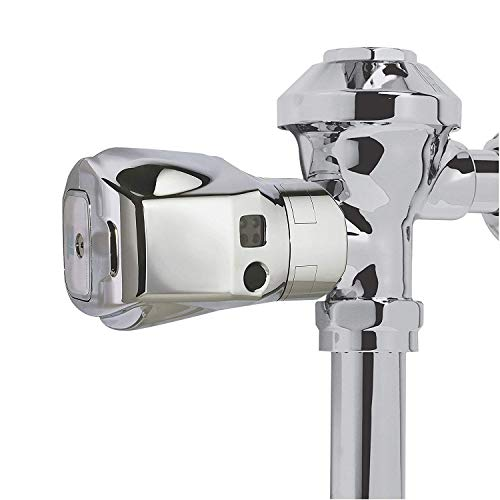 Rubbermaid FG401187A Auto Flush Side Mount Polished Chrome Toilet Flushing System, 4-3/4' Length x 3-19/64' Width x 2-51/64' Height
