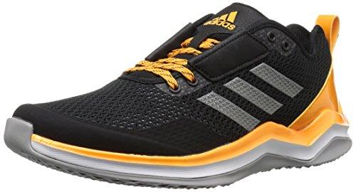 adidas Men's Speed Trainer 3 Shoes, Black/Iron/Collegiate Gold, 4 M US
