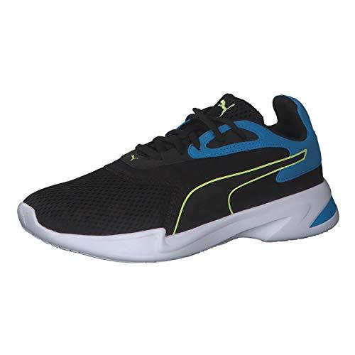 PUMA JARO JR Sneaker, Black Sharp Green Dresden Blau, 38 EU