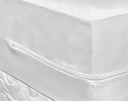 Encased Waterproof Mattress Protector Fully Zipped Closure 25cm Skirt No Noise