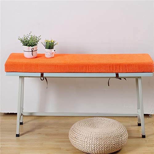YQ WHJB Rectangle Bench Cushion,ultra Soft Not-slip Seat Pad Thicken Sponge Bench Pad With Ties Zipper For Indoor Outdoor F 30x50cm(12x20inch)