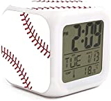NMlesolg Baseball Design Digital Alarm Clock,LED Digital Display,Electronic Small Alarm Clock for Bedroom