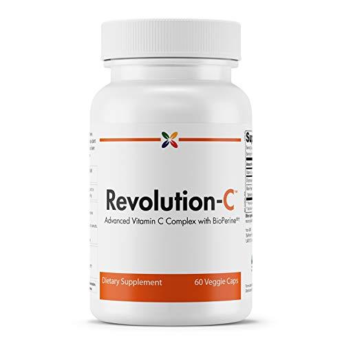 Stop Aging Now - Revolution-C Advanced Vitamin C Formula - Advanced Vitamin C Complex with BioPerine - 60 Veggie Caps