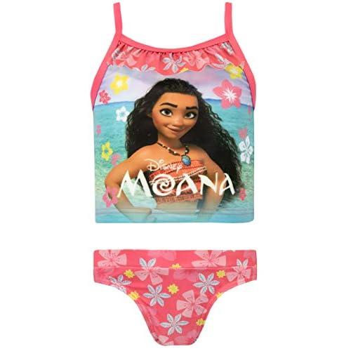 Disney Oceania Costume da Bagno per Ragazze a Due Pezzi Moana Multicolore 7-8 Anni