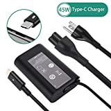 DAMZON Dell 45W USB-C Type C Laptop AC  Adapter Charger Power Supply for Dell XPS 12 XPS 13 9360 9370 9333 9380 Inspiron 14 7437 Latitude 7275 7370 5175 5285 5290 2-in-1 7390 2-in-1 Series LA45NM150