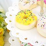 Hetoco Weiß 3-stöckig Gebäck Muffin Obst Kunststoff Kuchenständer Etagere Dessert ständer Display Servierständer Cupcake Ständer für Party, Geburtstag, Hochzeit, Weihnachten -klein - 4