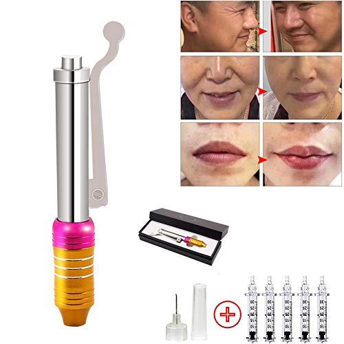 JIASHA Hyaluronic Injection Pen Kit Massage Zerstäuber High Pressure Nicht invasive Nein Nadel Hyaluron Gun 5 Ampullenkopf Für Anti Falten Lifting Lip Filler