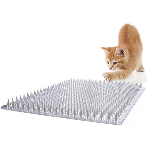 Zipcase 8 Pack Cat Repellent Deterrent Outdoor Scat Mat with Tape for Cats, Dogs, Pests Covers 12 Sq.ft, 16 x 13 Inches,8 Pack