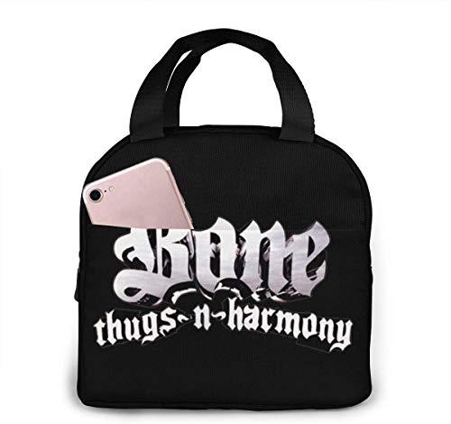 Lunchpaket, Isolierte Lunchbox, Bone Thugs N Harmony Tragbare Lunchpaket isoliert Lunchbox Camping Tasche für die Arbeit Schule Reisen