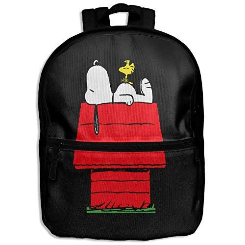 Kinder-Rucksack Snoopy Sleep Above The Red House für Schule, Wandern, Reisen, Schultertasche, kleiner Tagesrucksack für Jungen und Mädchen