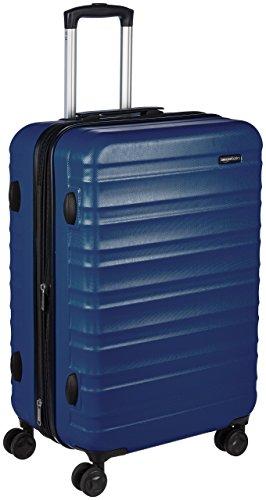 Amazon Basics - Maleta de viaje rígidaa giratoria - 68 cm, Azul marino