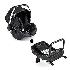 Hauck Baby Shell Comfort Fix incl. Isofix Base/ECE Groepen 0 vanaf de geboorte tot 13 kg bruikbare/licht/side impact protection/compatibel met Isofix Base/Black (Zwart)*