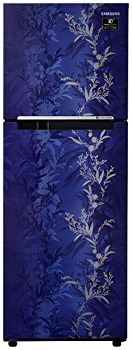 Samsung 253 L 2 Star Inverter Frost-Free Double Door Refrigerator (RT28T30226U/HL, Mystic Overlay Blue)