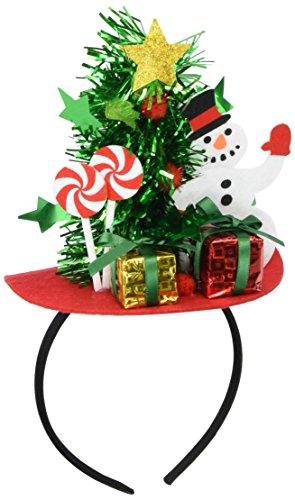 Forum Novelties Mini Christmas Tree with Snowman and Presents Headband