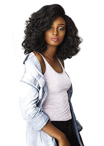 Sensationnel Curls Kinks & CO All Curl Types From 3B-4C Instant Weave 1/2 Half Wig - IW BOSS LADY (1B [Off Black])