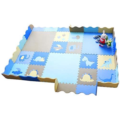 GFFTYX Bébé décoration Chambre Kid Puzzle Exercice Play Mat Mousse Tuiles autobloquantes de Mat de Play Enfants Idéal pour Les Enfants pour Apprendre et Jouer