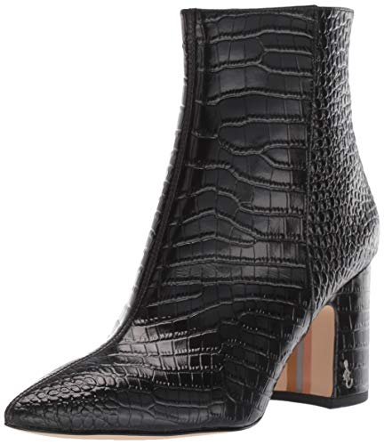 Sam Edelman Hilty 2 Black Kenya Croco Emboosed Leather 8 M