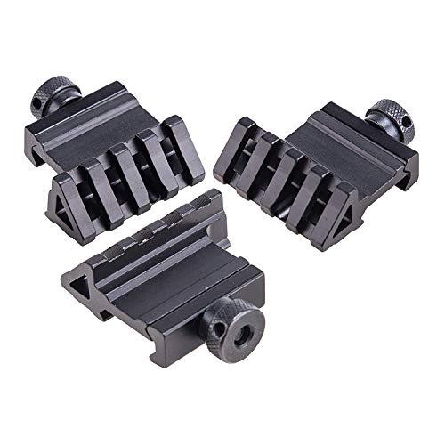 Donnagelia 45 Grad Offset Schienen Montage mit 4 Slot Universal Adapter Weaver & Picatinny Stil 20mm Zielfernrohr, 3 Pack