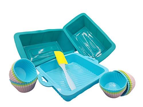 Mun Home Moldes de Silicona SIN BPA | 3 Moldes de Repostería...