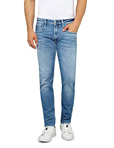 REPLAY Anbass Jeans, Light Blue 593, 40W / 34L Uomo
