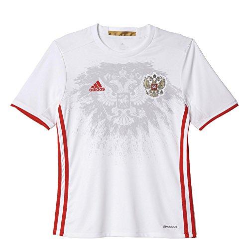 adidas Kinder UEFA EURO 2016 Russland Auswärtstrikot Replica Kurzarm, White/Red, 140