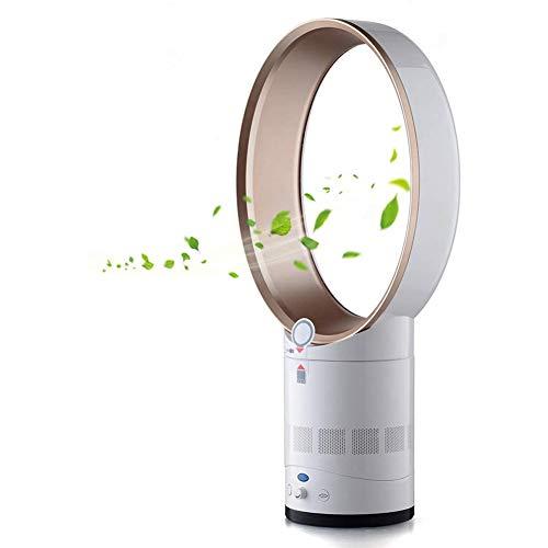 Wan&ya Ventilador sin aspas, Ventilador de refrigeración silencioso portátil de 14 Pulgadas, Limpiador de Aire de Iones Negativos, Ventilador de Torre de Control Remoto de pie para el hogar