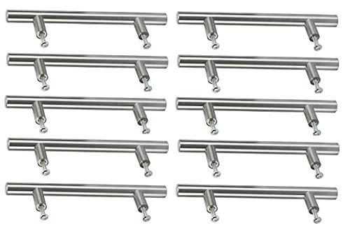 Amarine-tillverkad uppsättning av 10 massivt rostfritt stål modern rak smal stil skåp handtag drag, badrumslåda drar möbler skrivbord låda handtag (10, längd: 300 mm (11-7/8 tum)