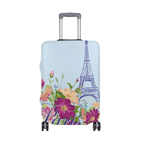 ALINLO Vintage Paris Torre Eiffel equipaje cubierta maleta maleta viaje protector para 45 – 32 pulgadas