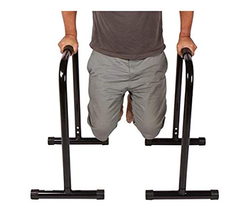 Dip Stand Station, Heavy Duty Ultimate Body Press Bar with Safety Connector for Tricep Dips