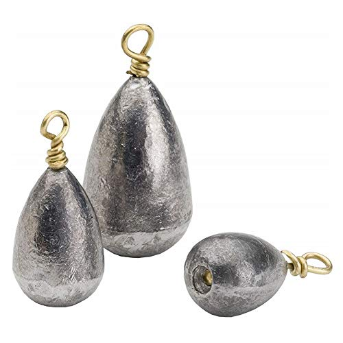 Bullet Weights Bass Casting Sinkers 1/2 Ounce 3-Pack