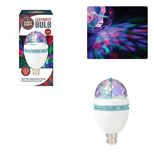 Global Gizmos 45570, Bombilla LED para Fiesta, Multicolor, 1.5 W, 220-240 V