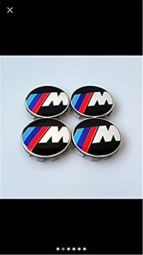 4x Alufelgen Mitte Nabendeckel Nabenkappen 68MM MITTE Best Fit für BMW M Power Tech Sport Rollen (emarkooz) (68mm)