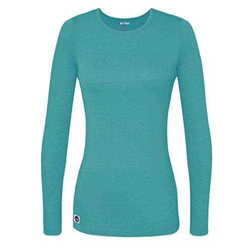 Sivvan Women's Comfort Long Sleeve T-Shirt/Underscrub Tee - S8500 - Aquamarine - L
