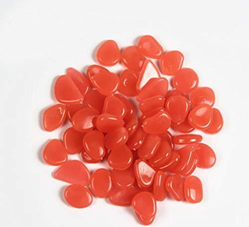 ZLDFAN Fluorit kann buntes Licht abgeben, um das Aquarium, den Blumentopf, den Garten usw. zu dekorieren.-Orange 100 Stück