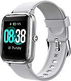 Montre Connectée Femmes,Montre Intelligente Homme IP68Etanche Bracelet Connecté Cardio Podometre Smartwatch Sport Fitness Tracker d'Activité Contrôle de la pour Android iPhone