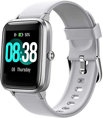 Smartwatch Donna Uomo,Smart Watch Orologio Fitness Android iOS Contapassi Cardiofrequenzimetro da Polso Orologio Sportivo Bluetooth Touch Conta Calorie Activity Tracker IP68 con Cronometri