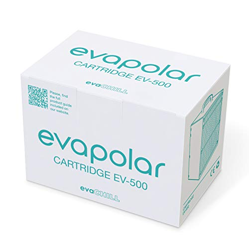 Evapolar Replacement Cartridge for Personal Evaporative Cooler and Humidifier/Portable Air Conditioner (for evaChill EV-500), Black
