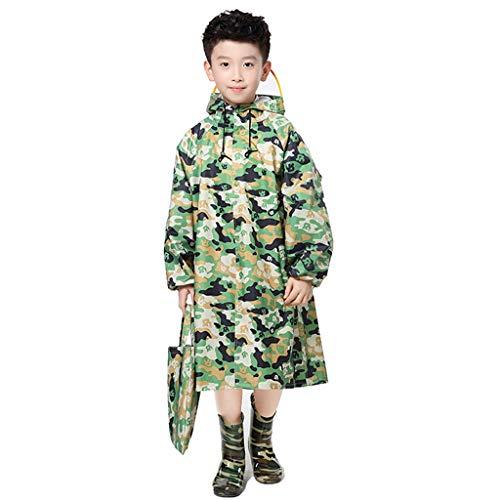 Regenjassen Waterdicht Waterdichte kinderen student lange sectie Schoolboy camouflage met schooltas