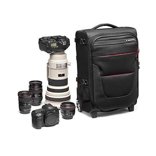 Manfrotto Reloader Air-55 Pro Light Kamera-Rolltasche für Camcorder, DSLR, Professionelle Spiegelreflexkameras, Platz für bis zu 2 Kameragehäuse mit Objektiven, Tasche für 17