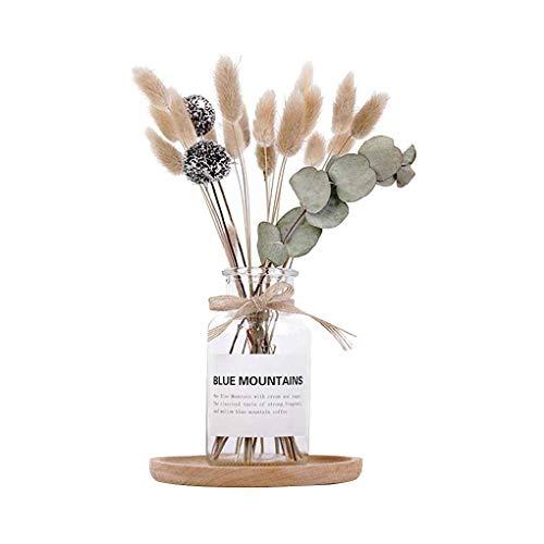 Topker Getrocknete Blumen Vase Kit Weizen Tischdekoration Foto Props Hauptdekorationen Bouquet Ornaments Set