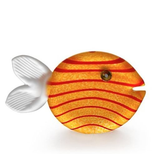 Oggetti - Hand Blown Glass Sculpture - Paperweight - Snippy Fish - Yellow