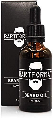 BARTFORMAT Bartöl für einen geschmeidigen Bart - Kokos - Bartpflegemittel 50 ml - Beard oil aus Jojoba und Aloe Vera - Bart Öl für eine frische Bartpracht
